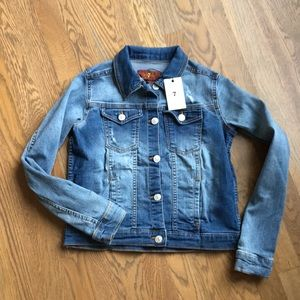 NWT Girls Seven for all Mankind Jean Jacket size L